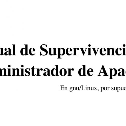 Manual de Supervivencia del Administrador de Apache